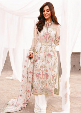 AIK Atelier Embroidered Chiffon Unstitched 3 Piece Suit AIK20C 02 - Luxury Collection