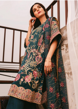 AIK Atelier Embroidered Chiffon Unstitched 3 Piece Suit AIK20C 03 - Luxury Collection