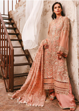 AIK Atelier Embroidered Chiffon Unstitched 3 Piece Suit AIK20C 04 - Luxury Collection