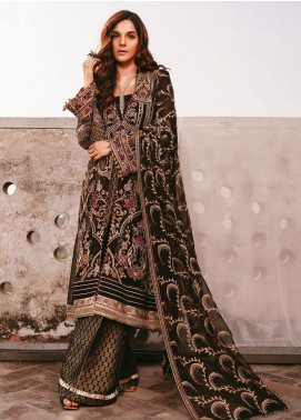 AIK Atelier Embroidered Chiffon Unstitched 3 Piece Suit AIK20C 05 - Luxury Collection