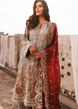 AIK Atelier Embroidered Chiffon Unstitched 3 Piece Suit AIK20C 06 - Luxury Collection