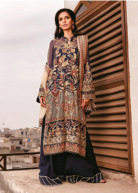 AIK Atelier Embroidered Chiffon Unstitched 3 Piece Suit AIK20C 07 - Luxury Collection
