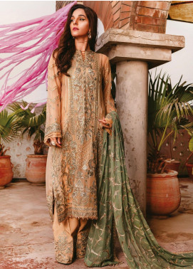 AIK Atelier Embroidered Chiffon Unstitched 3 Piece Suit AIK20C 08 - Luxury Collection