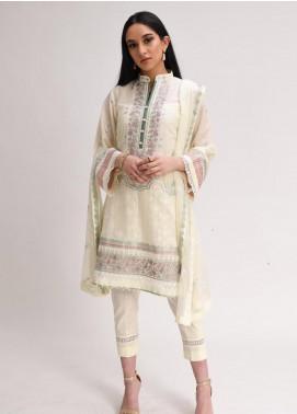 AIK Atelier Embroidered Lawn Unstitched 3 Piece Suit AIK20E-01 - Eid Collection