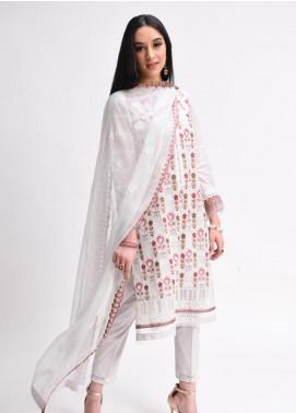 AIK Atelier Embroidered Lawn Unstitched 3 Piece Suit AIK20E-02 - Eid Collection