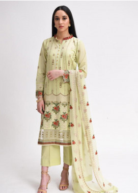AIK Atelier Embroidered Lawn Unstitched 3 Piece Suit AIK20E-03 - Eid Collection