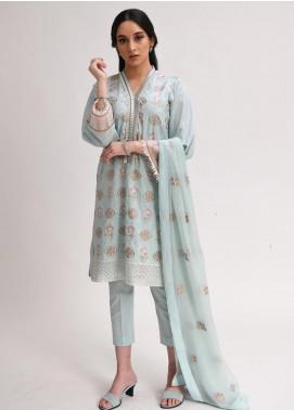 AIK Atelier Embroidered Lawn Unstitched 3 Piece Suit AIK20E-04 - Eid Collection