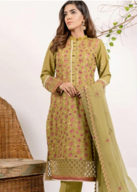 AIK Atelier Embroidered Lawn Unstitched 3 Piece Suit AIK20E-3 LOOK-01 - Spring / Summer Collection