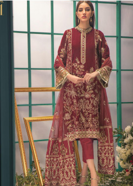 Shaam e Firaaq by AIK Atelier Embroidered Velvet Unstitched 3 Piece Suit AIK20SF 01 - Winter Collection