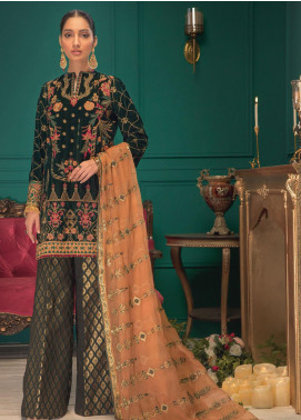 Shaam e Firaaq by AIK Atelier Embroidered Velvet Unstitched 3 Piece Suit AIK20SF 02 - Winter Collection