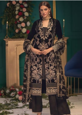 Shaam e Firaaq by AIK Atelier Embroidered Velvet Unstitched 3 Piece Suit AIK20SF 03 - Winter Collection