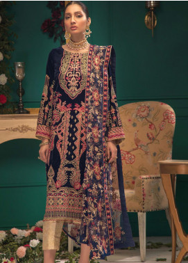 Shaam e Firaaq by AIK Atelier Embroidered Velvet Unstitched 3 Piece Suit AIK20SF 04 - Winter Collection