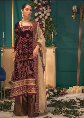 Shaam e Firaaq by AIK Atelier Embroidered Velvet Unstitched 3 Piece Suit AIK20SF 05 - Winter Collection