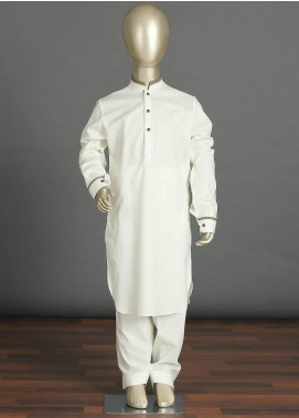 Aizaz Zafar Cotton Formal Kameez Shalwar for Boys -  238 Off White