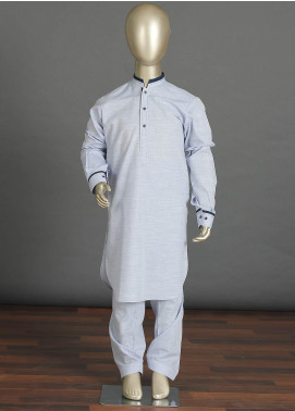 Aizaz Zafar Cotton Formal Boys Kameez Shalwar -  238 Sky Blue