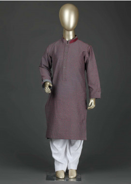 Aizaz Zafar Cotton Formal Kurta Shalwar for Boys -  AZ19B 220 Grey