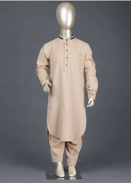 Aizaz Zafar Wash N Wear Formal Kameez Shalwar for Boys -  AZ19B 221 Beige