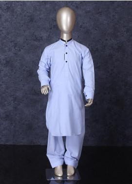 Aizaz Zafar Cotton Formal Boys Kameez Shalwar -  253 Sky Blue