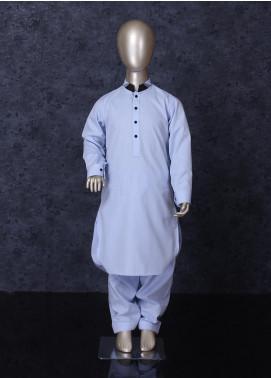Aizaz Zafar Cotton Formal Kameez Shalwar for Boys -  255 Sky Blue