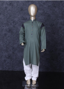 Aizaz Zafar Cotton Formal Kameez Shalwar for Boys -  D-247 Light Grey
