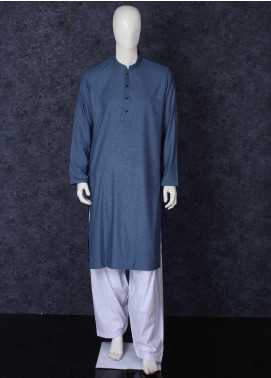 Aizaz Zafar Toyobo Formal Kurta for Men -  301 Blue