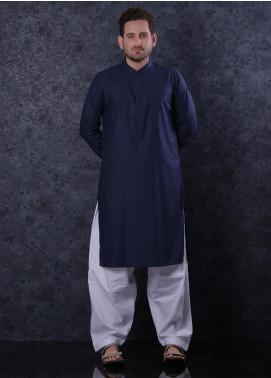 Aizaz Zafar Cotton Formal Men Kurta -  302 Navy Blue