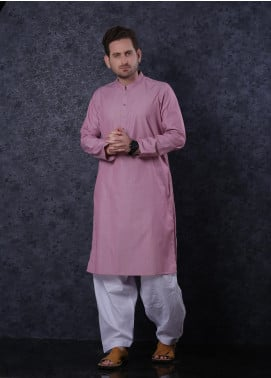 Aizaz Zafar Cotton Formal Kurta for Men -  302 Pink