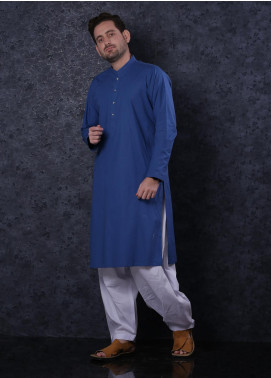 Aizaz Zafar Cotton Formal Men Kurta -  302 Royal Blue