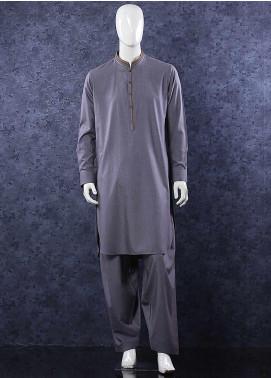 Aizaz Zafar Wash N Wear Formal Men Shalwar Kameez - 685 Dark Grey