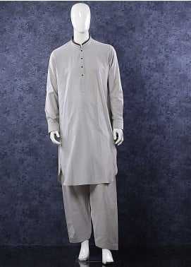 Aizaz Zafar Wash N Wear Formal Shalwar Kameez for Men -  685 Khaki