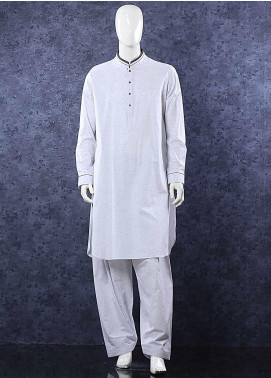 Aizaz Zafar Toyobo Formal Men Shalwar Kameez -  685 Light Grey