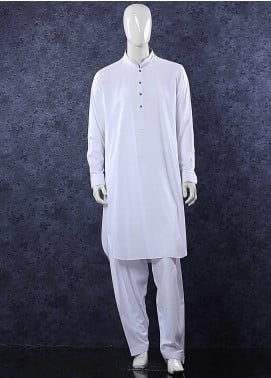 Aizaz Zafar Toyobo Formal Men Shalwar Kameez -  685 White
