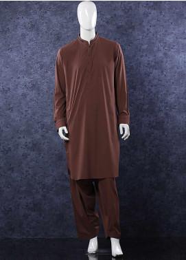 Aizaz Zafar Wash N Wear Formal Shalwar Kameez for Men -  D-685 Dark Brown