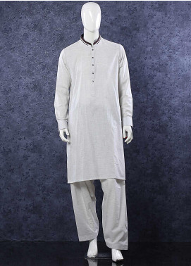 Aizaz Zafar Toyobo Formal Shalwar Kameez for Men -  D-685 Light Grey