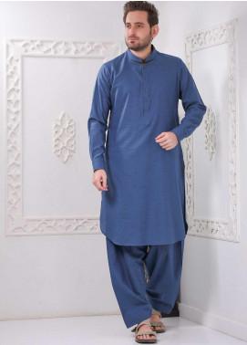 Aizaz Zafar Wash N Wear Formal Shalwar Kameez for Men -  AZ20FM D-685 Blue