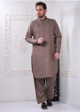 Aizaz Zafar Wash N Wear Formal Shalwar Kameez for Men -  AZ20FM D-685 Brown