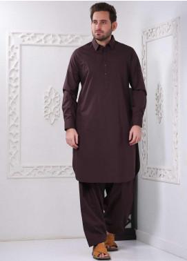Aizaz Zafar Wash N Wear Formal Shalwar Kameez for Men -  AZ20FM D-685 D-Brown