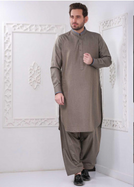 Aizaz Zafar Wash N Wear Formal Shalwar Kameez for Men -  AZ20FM D-685 Fawn