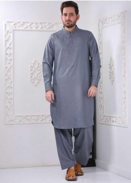 Aizaz Zafar Wash N Wear Formal Shalwar Kameez for Men -  AZ20FM D-685 Grey