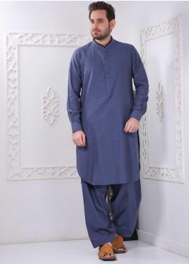 Aizaz Zafar Wash N Wear Formal Shalwar Kameez for Men -  AZ20FM D-685 Navy Blue