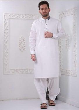 Aizaz Zafar Wash N Wear Formal Shalwar Kameez for Men -  AZ20FM D-685 White