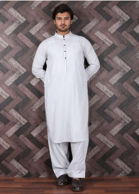 Aizaz Zafar Wash N Wear Formal Shalwar Kameez for Men -  685 Ash White