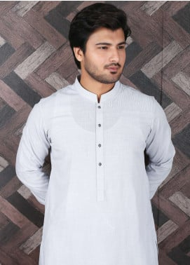 Aizaz Zafar Wash N Wear Formal Men Shalwar Kameez -  685 Grey