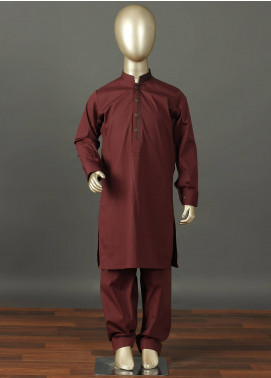 Aizaz Zafar Cotton Formal Boys Kameez Shalwar -  229 Maroon