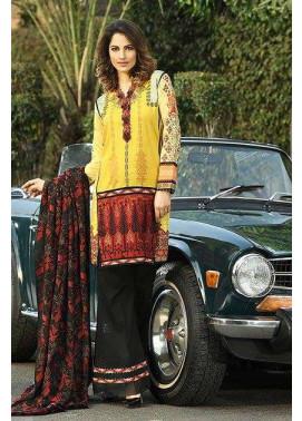 Asim Jofa Embroidered Linen Unstitched 3 Piece Suit AJ16W 6B