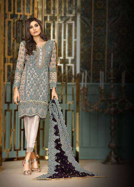 Asim Jofa Embroidered Chiffon Unstitched 3 Piece Suit AJ17C2 2B
