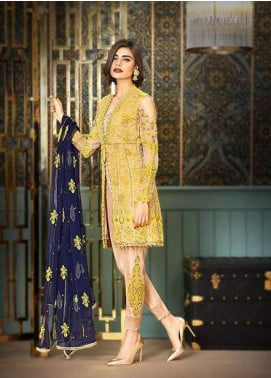 Asim Jofa Embroidered Chiffon Unstitched 3 Piece Suit AJ17C2 3B