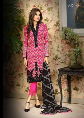Asim Jofa Embroidered Chiffon Unstitched 3 Piece Suit AJ17C2 4B
