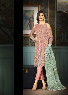 Asim Jofa Embroidered Chiffon Unstitched 3 Piece Suit AJ17C2 6A