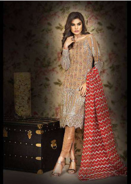Asim Jofa Embroidered Chiffon Unstitched 3 Piece Suit AJ17C2 6B